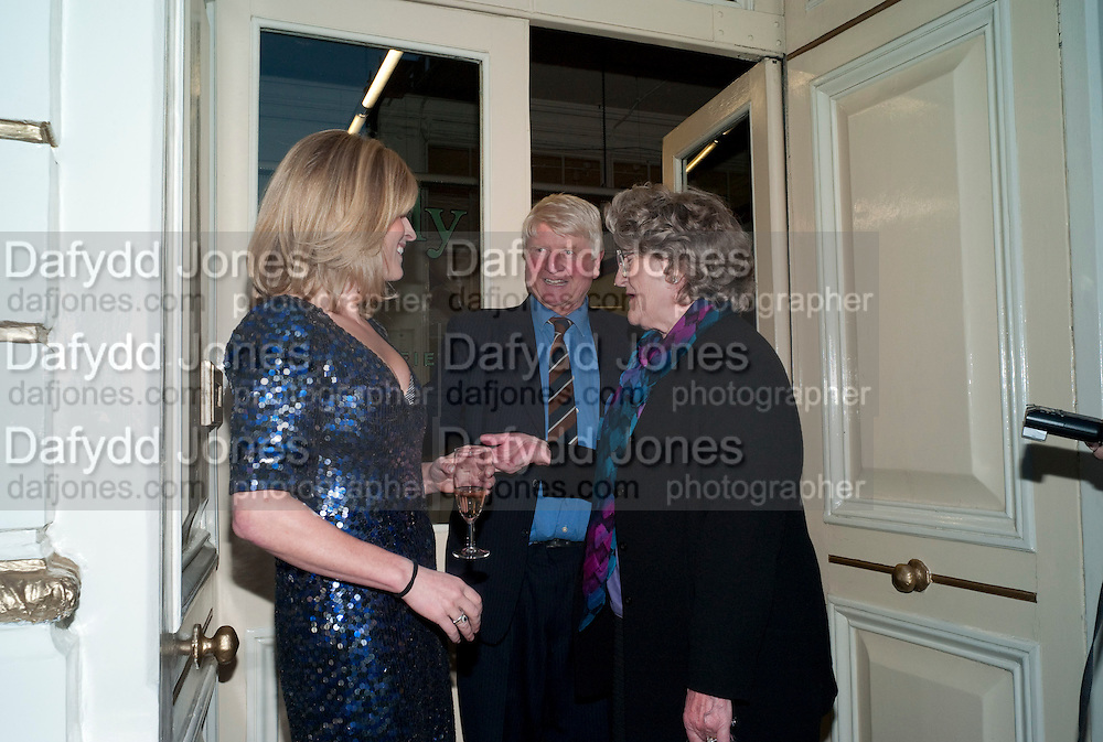 RACHEL JOHNSON; STANLEY JOHNSON; JULIA BUDWORTH; ; Rachel's Johnson's 'A Diary of the Lady'book launch at The Lady's offices. Covent Garden. London. 30 September 2010. -DO NOT ARCHIVE-© Copyright Photograph by Dafydd Jones. 248 Clapham Rd. London SW9 0PZ. Tel 0207 820 0771. www.dafjones.com.