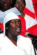 Tierra Heisle sings the National Anthem during the Trotwood-Madison High School commencement at the Victoria Theatre in downtown Dayton, May 29, 2012.