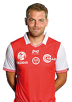 Samuel Bouhours of Reims during the photocall of Reims for new season of Ligue 2 on September 29th 2016 in Reims<br /> Photo : Stade de Reims / Icon Sport