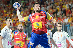 Guardiola Gedeon of Spain during handball match between National teams of Macedonia and Spain on Day 4 in Main Round of Men's EHF EURO 2018, on January 21, 2018 in Arena Varazdin, Varazdin, Croatia. Photo by Mario Horvat / Sportida