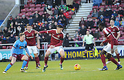 Alex Revell of Northampton Town on the ball during the EFL Sky Bet League 1 match between Northampton Town and Scunthorpe United at Sixfields Stadium, Northampton, England on 14 January 2017. Photo by Andy Handley.