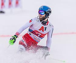 26.01.2020, Streif, Kitzbühel, AUT, FIS Weltcup Ski Alpin, Slalom, Herren, 2. Lauf, im Bild Marco Schwarz (AUT) // Marco Schwarz of Austria reacts after his 2nd run in the men's Slalom of FIS Ski Alpine World Cup at the Streif in Kitzbühel, Austria on 2020/01/26. EXPA Pictures © 2020, PhotoCredit: EXPA/ Stefan Adelsberger