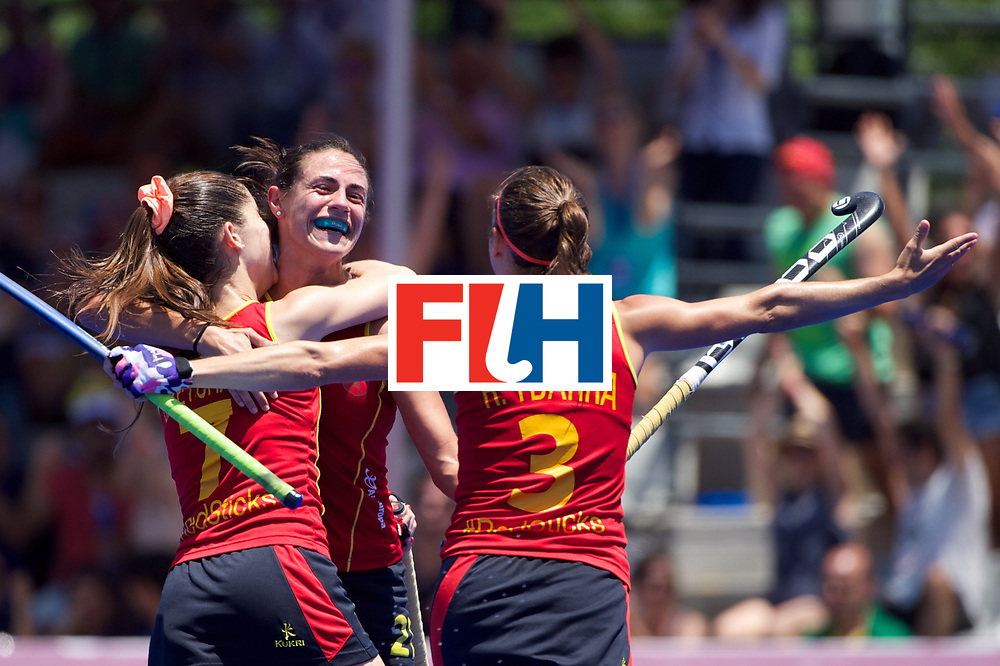 RIO 2016 Olympic qualification, Hockey, Women, match for 5th place, Spain vs United States of America :  Beatriz Perez celebrates its goal