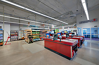 Interior photo of the Salvation Army DMG Grocery Store in Baltimore Maryland by Jeffrey Sauers of Commercial Photographics, Architectural Photo Artistry in Washington DC, Virginia to Florida and PA to New England