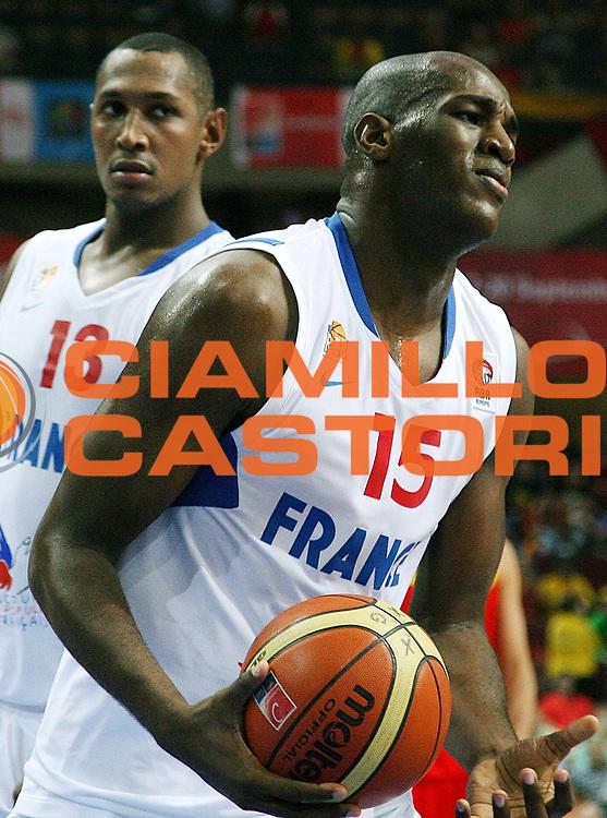 DESCRIZIONE : Katowice Poland Polonia Eurobasket Men 2009 Quarter Final Francia France Spagna Spain<br /> GIOCATORE : Ali Traore<br /> SQUADRA : Francia France<br /> EVENTO : Eurobasket Men 2009<br /> GARA : Francia France Spagna Spain<br /> DATA : 17/09/2009 <br /> CATEGORIA : delusione<br /> SPORT : Pallacanestro <br /> AUTORE : Agenzia Ciamillo-Castoria/A.Vlachos<br /> Galleria : Eurobasket Men 2009 <br /> Fotonotizia : Katowice  Poland Polonia Eurobasket Men 2009 Quarter Final Francia France Spagna Spain<br /> Predefinita :