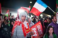Présidentielle 2012 : soirée électorale du Front de gauche place Stalingrad, à Paris.