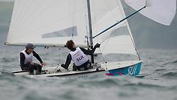 2012 Olympic Games London / Weymouth<br /> 470 Training race<br /> Brauchli Yannick, Hausser Romuald, (SUI, 470 Men)