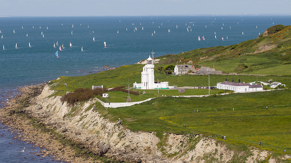 ENGLAND, Isle of Wight, Niton Undercliff, St Catherines Lighthouse.