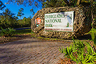 Main entrance to Everglades National Park, State Road 9336 (Ingraham Highway), Homestead, Florida
