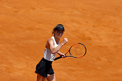 May 20, 2018 - Rome, Italy - Elina Svitolina of Ukraine celebrates victory after her Womens Final match win against Simona Halep of Romania during day 8 of the Internazionali BNL d'Italia 2018 tennis at Foro Italico on May 20, 2018 in Rome, Italy. (Credit Image: © Matteo Ciambelli/NurPhoto via ZUMA Press)