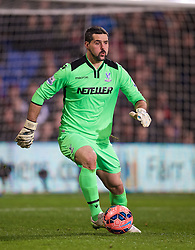 LONDON, ENGLAND - Saturday, February 14, 2015: Crystal Palace's goalkeeper Julian Speroni in action against Liverpool during the FA Cup 5th Round match at Selhurst Park. (Pic by David Rawcliffe/Propaganda)