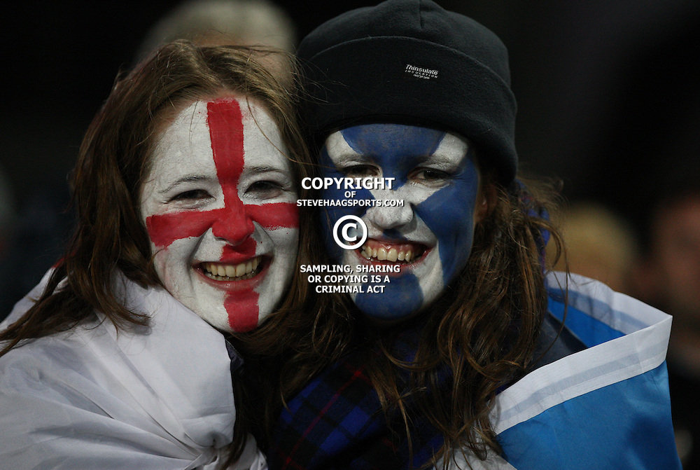 AUCKLAND, NEW ZEALAND - OCTOBER 01, Fans during the 2011 IRB Rugby World Cup match between England and Scotland at Eden Park on October 01, 2011 in Auckland, New Zealand<br /> Photo by Steve Haag / Gallo Images