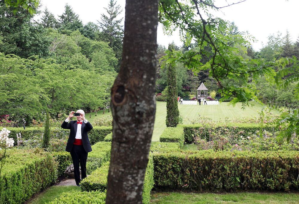The gardens are photographed before Nancy Coffey and F. Timothy Nagler are married at Duckridge Farm in Portland, Ore., Saturday, June 2, 2012...The bride, 66, is a Senior Vice President with The Corcoran Group in New York.  She graduated from Stanford and received a M.S. in Engineering from Stanford. She is a daughter of Joan Moore of Montecito, Ca., and the late Arthur J. Coffey, a custom home builder and developer in Palm Springs, Ca., where she grew up...The bridegroom, 65, is the president and owner of Jungclaus-Campbell Co., Inc., an Indianapolis industrial general contractor founded in 1875.  He graduated from Carleton College and received a M.A. in English from the University of Virginia.He is the son of Ruth E. and Louis G. Nagler of Amery, Wisconsin.  His father was a lawyer, his mother a homemaker.