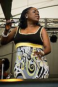 Sharon Jones doing her stuff at the 2010 Appel Farm's Arts & Music Festival in Elmer, NJ.