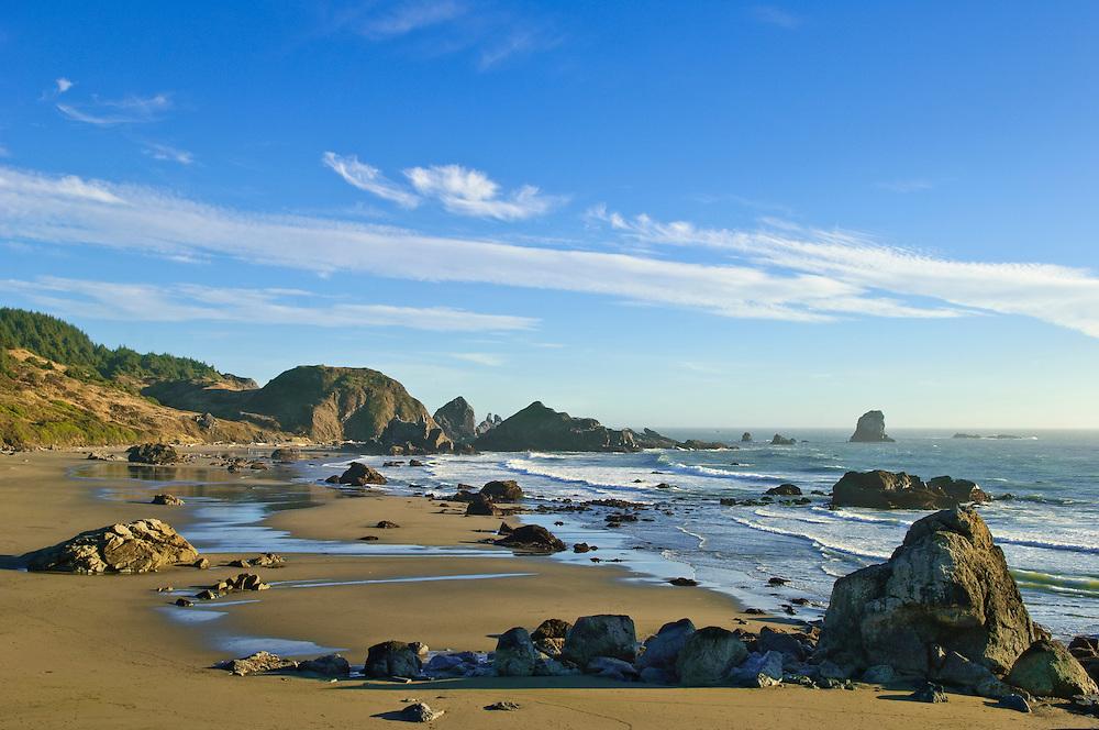 Lone Ranch Beach; Samuel H. Boardman State Scenic Corridor, southern Oregon Coast.