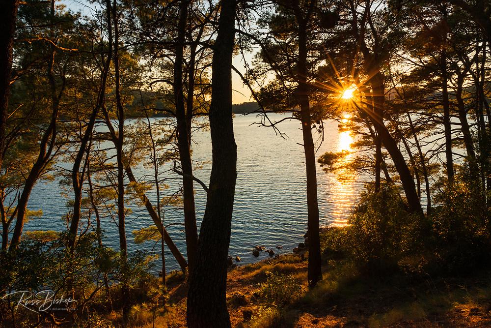 Sunset at Soline, Mljet Island National Park, Dalmatia, Croatia
