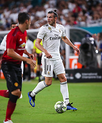 July 31, 2018 - Miami Gardens, Florida, USA - Real Madrid C.F. forward Gareth Bale (11) in action during an International Champions Cup match between Real Madrid C.F. and Manchester United F.C. at the Hard Rock Stadium in Miami Gardens, Florida. Manchester United F.C. won the game 2-1. (Credit Image: © Mario Houben via ZUMA Wire)