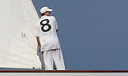 "FRANCE, Saint Tropez, September 30th 2008, Les Voiles de Saint Tropez, Bowman on board ""Moonbeam IV)"