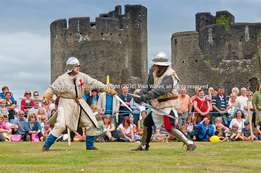 Battle re-enactment<br /> Big Cheese Festival 2010<br /> Caerphilly<br /> South<br /> Events