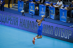 September 12, 2018 - Varna, Bulgaria - Del Valle Dennis, Puerto Rico, play the ball during Iran vs Puerto Rico, pool D, during 2018 FIVB Volleyball Men's World Championship Italy-Bulgaria 2018, Varna, Bulgaria on September 12, 2018  (Credit Image: © Hristo Rusev/NurPhoto/ZUMA Press)