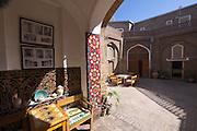 Uzbekistan, Bukhara. Hotel Mekhtar Ambar.