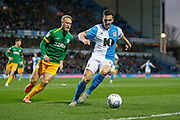 Stewart Downing of Blackburn Rovers shields the ball from Tom Clarke of Preston North End  during the EFL Sky Bet Championship match between Blackburn Rovers and Preston North End at Ewood Park, Blackburn, England on 11 January 2020.