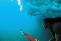 Duckdive in Rapa Nui (Easter Island)