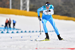 GERLITS Alexandr KAZ LW6 competing in the ParaBiathlon, Para Biathlon at  the PyeongChang2018 Winter Paralympic Games, South Korea.