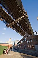 Brooklyn Bridge in Brooklyn New York October 2008