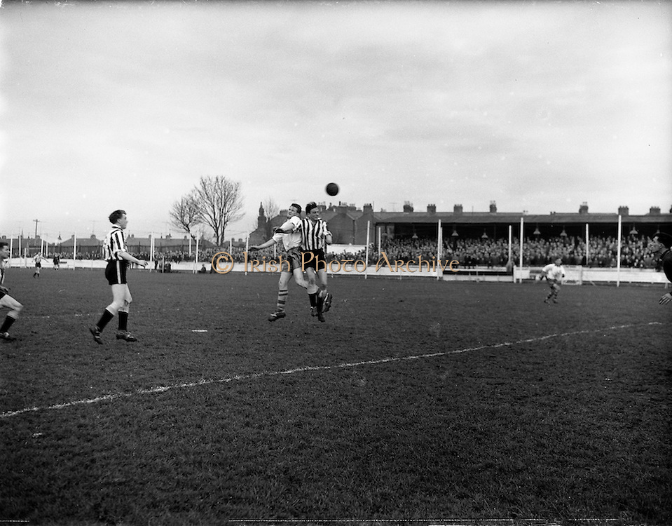 15/02/1959<br /> 02/15/1959<br /> 15 February 1959<br /> Soccer, F.A.I. Cup: Waterford v Transport at Harold's Cross, Dublin.