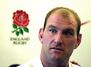 12/02/2004 Six Nations Rugby, England Captain's Press Conference, Pennyhill Park- Bagshot.Lawrence Dallaglio,  England Captain's Press Conference..   [Mandatory Credit, Peter Spurier/ Intersport Images].