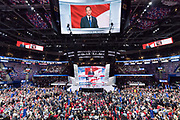 RNC Chairman Reince Priebus addresses delegates on the final day of the Republican National Convention July 21, 2016 in Cleveland, Ohio.