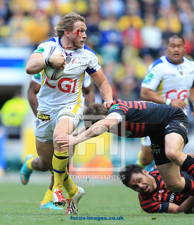 Gerhard Vosloo of Clermont Auvergne during the Heineken Cup Semi-Final at Twickenham Stadium, Twickenham<br /> Picture by Michael Whitefoot/Focus Images Ltd 07969 898192<br /> 26/04/2014