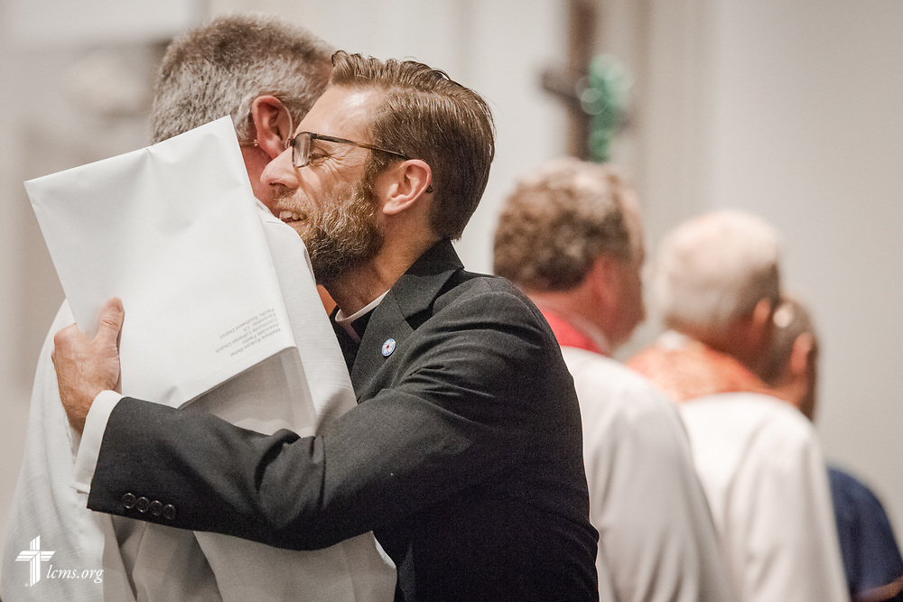 Pastor-elects receive their call at the Service of Praise with Assignment of Calls in the Chapel of St. Timothy and St. Titus at Concordia Seminary, St. Louis, on Tuesday, April 24, 2018. LCMS Communications/Erik M. Lunsford Pastors-elect receive their call at the Service of Praise with Assignment of Calls in the Chapel of St. Timothy and St. Titus at Concordia Seminary, St. Louis, on Tuesday, April 24, 2018. LCMS Communications/Erik M. Lunsford