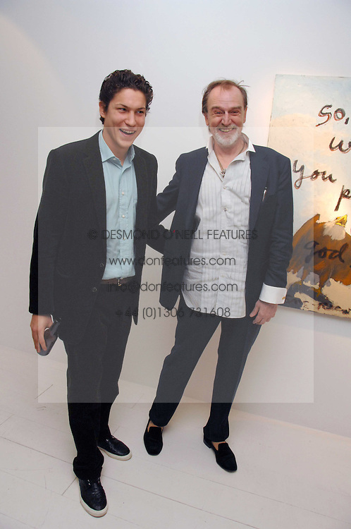 Left to right, VITO SCHNABEL and artist RENE RICARD at an exhibition of paintings by artist Rene Richard at the Scream Gallery, Bruton Street, London on 3rd April 2008.<br /><br />NON EXCLUSIVE - WORLD RIGHTS
