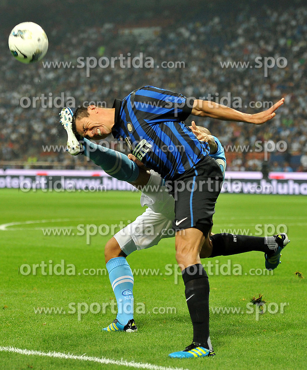 01.10.2011, Giuseppe Meazza Stadion, Mailand, ITA, Serie A, Inter Mailand vs SSC Neapel, im Bild LUCIO (Inter). // during Serie A football match between Inter Milan and Napoli at Giuseppe Meazza Stadium in Milan, Italy on 1/10/2011. EXPA Pictures © 2011, PhotoCredit: EXPA/ InsideFoto/ Alessandro Sabattini +++++ ATTENTION - FOR AUSTRIA/(AUT), SLOVENIA/(SLO), SERBIA/(SRB), CROATIA/(CRO), SWISS/(SUI) and SWEDEN/(SWE) CLIENT ONLY +++++
