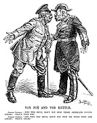 """Von Pot and Von Kettle. German General. """"Why the devil don't you stop these Americans coming across? That's your job."""" German Admiral. """"And why the devil don't you stop 'em when they ARE across? That's yours."""""""
