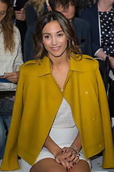 © Licensed to London News Pictures. 17/09/2016. FRANKIE BRIDGE attends the JASPER CONRAN Spring/Summer 2017 show. Models, buyers, celebrities and the stylish descend upon London Fashion Week for the Spring/Summer 2017 clothes collection shows. London, UK. Photo credit: Ray Tang/LNP