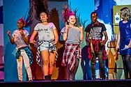 ROTTERDAM - kinderen in groep 8 van de basisschool tijdens de eidn musical net voor de zomervakantie als ze naar het middelbare onderwijs gaan theater opvoeren , opvoering .
