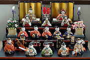 Hinamatsuri dolls set up at home to mark Girls Day on March 3rd Japan
