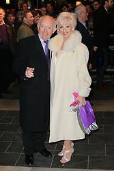 Paul Daniels; Debbie McGee, Barry Humphries Eat, Pray, Laugh - press night, London Palladium, London UK, 15 November 2013, Photo by Richard Goldschmidt © Licensed to London News Pictures. Photo credit : Richard Goldschmidt/Piqtured/LNP