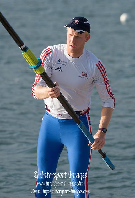 Caversham, England, Men's Pair, Oliver COOK, GBRowing Team Trials. Sunday, 19.04.2015. [Mandatory Credit. Peter SPURRIER/Intersport Images]