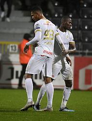 December 23, 2018 - France - Ally Mbwana Samatta forward of Genk and Zinho Gano forward of Genk (Credit Image: © Panoramic via ZUMA Press)