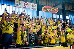 Ose, fans  of Gorenje at handball match of MIK 1st Men league between RD Slovan and RK Gorenje Velenje, on May 16, 2009, in Arena Kodeljevo, Ljubljana, Slovenia. Gorenje won 27:26. (Photo by Vid Ponikvar / Sportida)