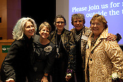 Charlotte Eufinger, Sheila Mchale, Dorothy Schey and other interviewees at Women in Philanthropy of Ohio University documentary premier at Baker Center Theater on November 6, 2013.