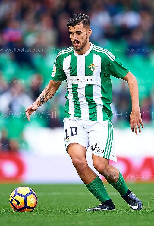 SEVILLE, SPAIN - DECEMBER 04:  Dani Ceballos of Real Betis Balompie in action during La Liga match between Real Betis Balompie an RC Celta de Vigo at Benito Villamarin Stadium on December 4, 2016 in Seville, Spain.  (Photo by Aitor Alcalde Colomer/Getty Images)