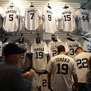 The Yankee Store doing brisk business during the New York Yankees Vs Toronto Blue Jays season opening day at Yankee Stadium, The Bronx, New York. 6th April 2015. Photo Tim Clayton