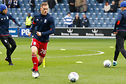 Birmingham City defender Michael Morrison (28) warms up before kick off during the EFL Sky Bet Championship match between Queens Park Rangers and Birmingham City at the Loftus Road Stadium, London, England on 28 April 2018. Picture by Andy Walter.