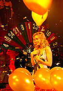 Film star Emmanuelle Beart was the guest of honor at the Grand opening of the Brussels Grand Casino, on Thursday, Jan. 19, 2006, in Brussels. Beart made a theatrical entrance and dropped the first gold ball on the roulette table to open the casino. (Photo © Jock Fistick)