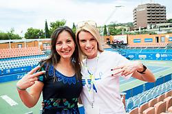 Lea Medvesek and Tara Varl Milic during ATP Challenger Zavarovalnica Sava Slovenia Open 2017, on August 12, 2017 in Sports centre, Portoroz/Portorose, Slovenia. Photo by Vid Ponikvar / Sportida